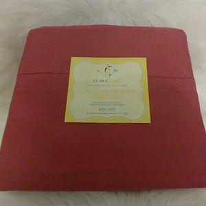 Clara Clark 820 Wine 🍷 King Size Sheet Set